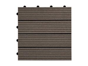 Terrassenfliese-WPC-Holzfliese-30x30cm-Terrassenbelag-Holzterrasse-versch-Farben