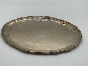 Ovales Tablett aus Inox 46x35cm
