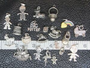 STERLING SILVER SPORTS THEMED CHARMS MINIATURE FIGURINE PENDANT YOUR CHOICE!