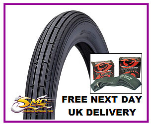 SINNIS MAX 2 125 FRONT TYRE & TUBE 3.00x18 47P CST ribbed motorcycle tyre