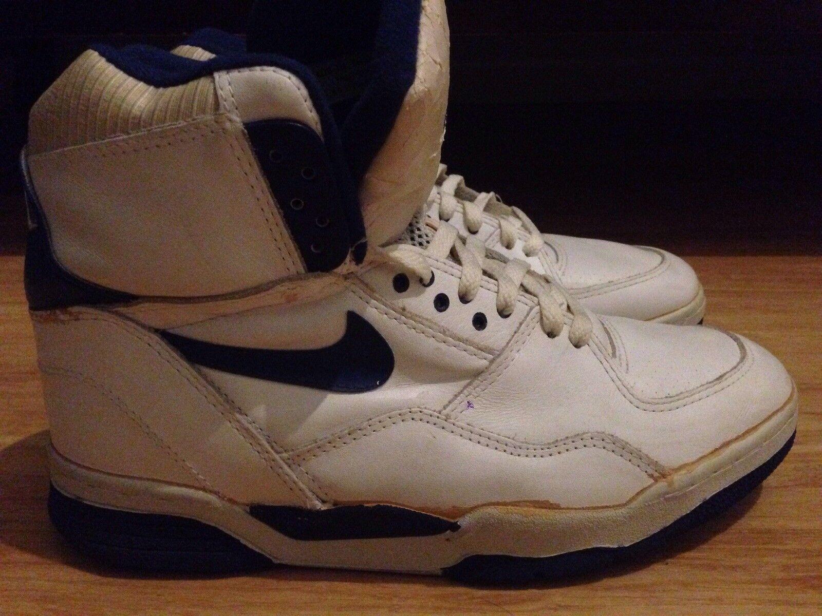 Nike air delta force st collezione bianco blu, scarpe da basket originale del 1989