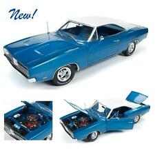 AUTO WORLD AMM1100 1969 Dodge Charger White Hat Special Diecast Car 1:18 NEW!!