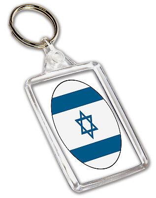 Israel Flag Key Chain Metal Chrome Plated Keychain Key fob keyfob Israeli