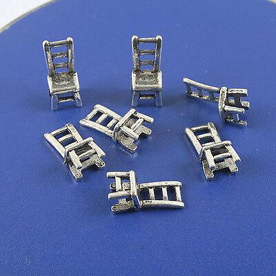 16pcs Tibetan silver 3D chair pendant charm h0816