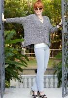 Matilda Jane Marvelous Marled V-neck Oversized Boxy Sweater Women's S