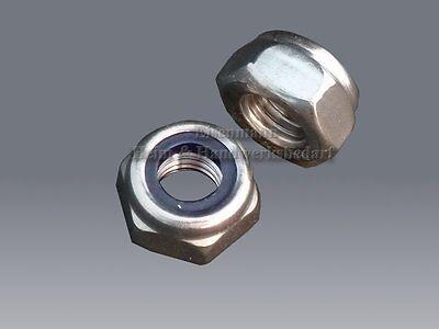 Sicherungsmuttern M 3 - M 20 DIN 985 A2 Muttern Edelstahl Stopmuttern