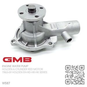 GMB-WATER-PUMP-149-161-179-186-6-CYL-RED-ENGINE-1963-69-HOLDEN-EH-HD-HR-HK