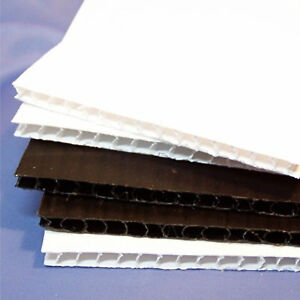 1.2m x 1.8m x 2.5mm 350gsm Core Flute Black or White packs/20 only