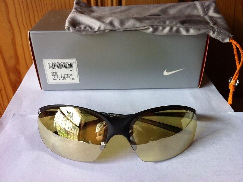 Gloss Black Max Hi-Vis Yellow EV0169-010 NEW NIKE Odeon Sunglasses