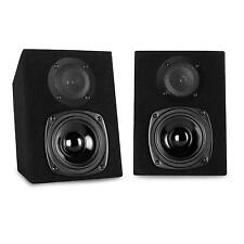 COMPACT PASSIVE HOME HI FI STEREO BOOKSHELF 40W RMS STEREO BLACK SPEAKERS PAIR
