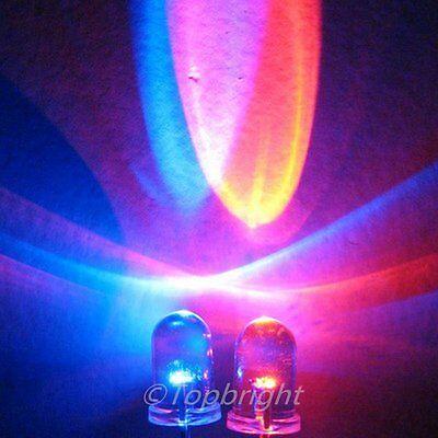 10 PCs 0.5W StrawHat 8mm 140° High Power UV LED 30Kmcd