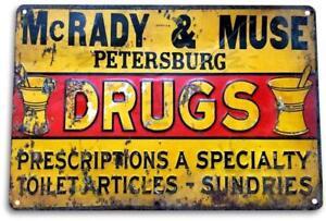 McRady-amp-Muse-Drugs-Vintage-Retro-Tin-Metal-Sign