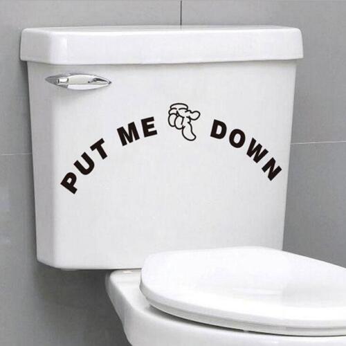 "Chic /""Put Me Down/"" Bathroom Toilet Seat Decal Funny Sticker Art Washroom Decor S"