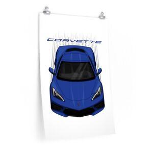 Chevrolet Corvette C8 2020 Arctic White Poster Corvette Gift New Corvette