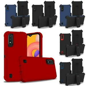 For Samsung Galaxy A01/A015 Heavy Duty Shockproof Case+Belt Clip Fit Otterbox