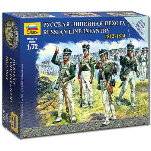 ZVEZDA 6808 Russian Line Infantry Napoleonic 1:72 Figures Snap Fit Model Kit