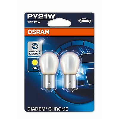 2x OSRAM DIADEM CHROME PY21W (581) INDICATOR BULBS BMW 3 (E46) M3 CSL 06.03-