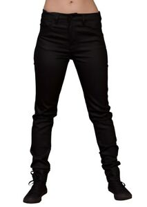 Lip-Service-Ladies-Coated-Skinny-Jeans-Black-High-Waist-Black-Jeans