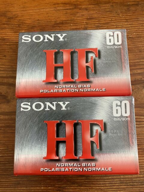 Sony HF 60 Normal Bias Cassette Tapes 60 Minutes Factory SEALED  lot of 2