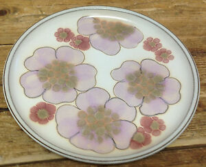 Image is loading Denby-Gypsy -Stoneware-Lavender-Purple-Pink-Stylized-Flowers- & Denby Gypsy Stoneware Lavender Purple Pink Stylized Flowers Floral ...