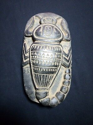 RARE ANCIENT EGYPTIAN ANTIQUE Egypt Scarab Carved Stone 1210 Bc
