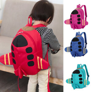 Kids Boys Girls School Bag Cartoon Plane Animals Backpack Toddler ... a69233e411a06