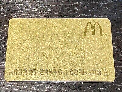 2015 McDonald/'s  BURGER AND FRIES LOVE collectors GIFT CARD No cash value 251