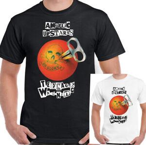 ANGELIC-pivelli-T-shirt-Da-Uomo-Punk-adolescente-Di-Avvertimento-Unisex-Top