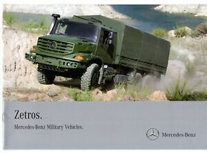 Mercedes Benz Zetros Military Awd Truck 2011 Uk Market Sales Brochure 4x4 6x6 Ebay
