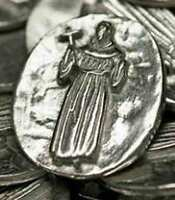 100 Saint Francis Pewter Pocket Guardian Coins/tokens