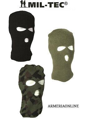 Cappello Passamontagna Tipo Lana Invernale Da Uomo Verde Nero Maschera Militare Prezzo Basso