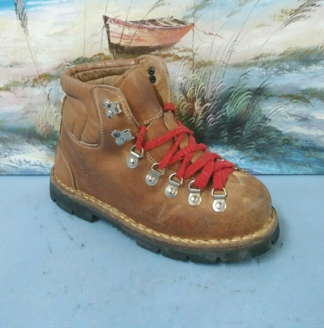 colorado  Outdoor Mountaineering Brown Leather Boots Men's US 6     31100