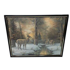 1977-Jesse-Barnes-Winter-Deer-Print-Buena-Vista-039-s-Exotic-Animal-Paradise-124