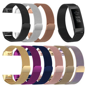 Details about Replacement Milanese Metal Strap for Fitbit Charge 3 Secure  Band Metal Buckle