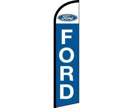 FORD Blue White Windless Full Curve Top Advertising Banner Flag Trucks Cars Deal