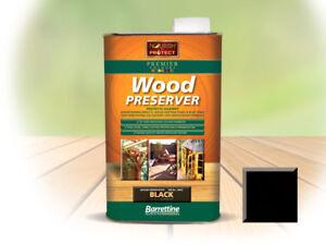1l&5l Barrettine Holly Noir Premier Wood Preserver Tache Peinture Terrasse Clôture-afficher Le Titre D'origine