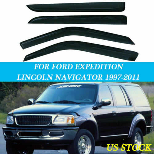 Door Side Vent Shade Window Visor Guard Fit for Ford Expedition XL 97-11 Part