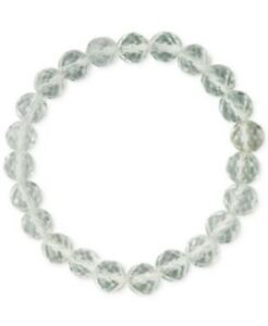 Details About White Quartz Nwt Fine Silver Plate Dyed Genuine Stone Stretch Bracelet Fo35