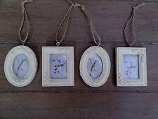 Parlane Pale Gold Mini Ornate Photo Frames With Ribbon Hangers Set