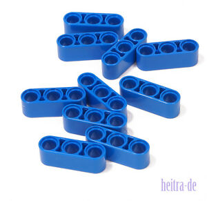 LEGO Technik - 10 x Liftarm 1x3, dick blau / Blue Liftarm Thick / 32523 NEUWARE