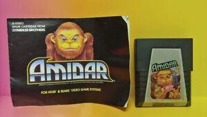 Atari-2600-Amidar-Game-amp-Instruction-Manual-Tested-Works-Rare