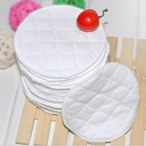 20Pcs Women Organic Bamboo Breast Pads Washable Reusable Cotton Nursing Pads