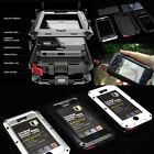 Aluminum Metal Case Waterproof Cover Gorilla Glass For iPhone 4 4S ShockProof