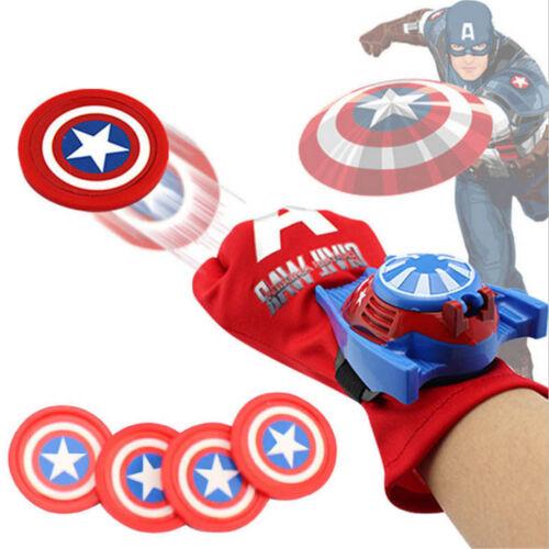 SUPER EROE Lanciatori Guanti Spiderman-man Iron man Hulk Bambini Cosplay Toys IT