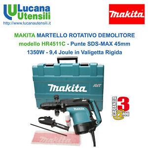 MAKITA-MARTELLO-ROTATIVO-DEMOLITORE-modello-HR4001C-Punte-SDSMAX-40mm-1100W-6-8J