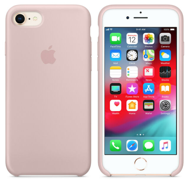 "ROSA SAND * ECHTES Apple Silicone Case Silikon Hülle iPhone 7/8 4.7"""