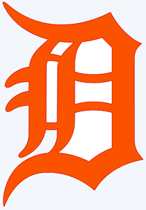 detroit tigers old english d logo decal window sticker you pick