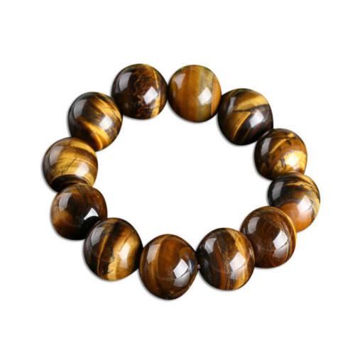 natürliche bunte tigerauge stein runden perlen dehnbar armband armband s JKS