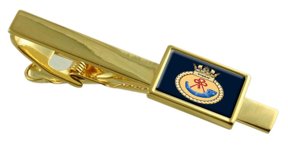 Royal Navy Navy Navy Hms Torbay oro Fermacravatta Inciso 3afb58