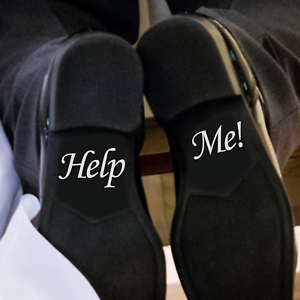 """Wedding Day. Shoe decalsRemovable Vinyl Shoe Decal Stickers /""""HELP ME/"""""""